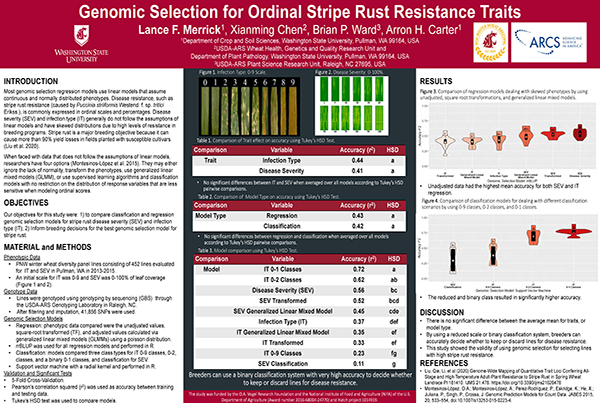 Genomic Selection for Ordinal Stripe Rust Resistance Traits