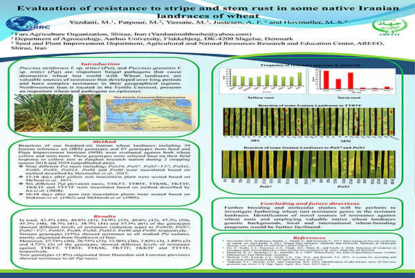 Evaluation of resistance to stripe and stem rust in some native Iranian landraces of wheat
